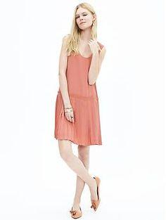 Pleated Drop-Waist Dress