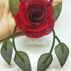 Image may contain: flower - Ideas & Thoughts Beaded Flowers, Diy Flowers, Crochet Flowers, Crochet Mandala Pattern, Crochet Patterns, Embroidery Stitches, Hand Embroidery, Easy Crochet, Handicraft