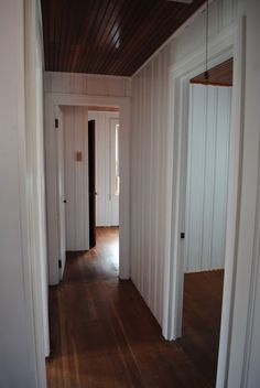 House by Holly: To Paint Knotty Pine or Not Paint Knotty Pine? That is the Quest. House by Holly: Knotty Pine Cabinets, Knotty Pine Kitchen, Knotty Pine Paneling, Knotty Pine Walls, Knotty Pine Decor, Painting Wood Paneling, Painted Panelling, Beadboard Wainscoting, Painted Wood Walls