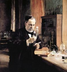 The story behind Alfred Nobel's spirit of discovery. Vintage illustration of Alfred Nobel in his laboratory, working on an experiment; screenprint, circa 1930. Very charitable, brilliant scientist. If interested spend time investigating his prolific contributions to our lives. P.H./Getty Images. http://www.pbs.org/newshour/updates/the-story-behind-alfred-nobela-spirit-of-discovery/