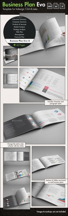 Business Plan Evolved r2 - A4 Landscape Template  #marketing #minimal #modern • Available here → http://graphicriver.net/item/business-plan-evolved-r2-a4-landscape-template/12925855?s_rank=136&ref=pxcr