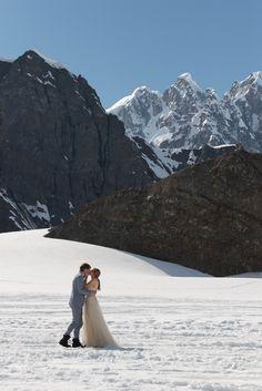 Beautiful wedding photos taken atop an Alaskan glacier | Mark Gvazdinskas Photography