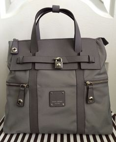 New Henri Bendel Jetsetter Convertible Backpack Crossbody Grey $278 New | eBay