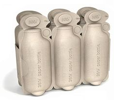 The 360 Paper Bottle – A water package made entirely of recycled materials. | Designer: Brand Image