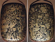 Case (Inrō) with Design of Flowers and Grasses. 19th century