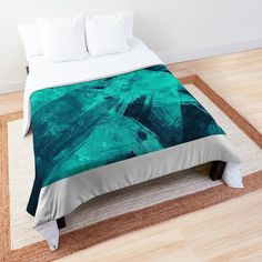 'Blue Please' Comforter by Beer-Bones College Dorm Rooms, Square Quilt, Twin Xl, Quilt Patterns, Bones, Comforters, Pillows, Printed, Awesome