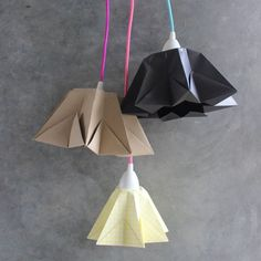 DIY - Origami stars lamp tutorial in German with pictures. Very easy to do!!