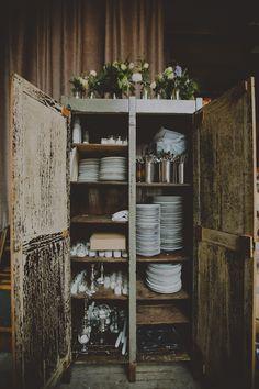 reception cabinet // photo by Chellise Michael // http://ruffledblog.com/elegant-brooklyn-winery-wedding