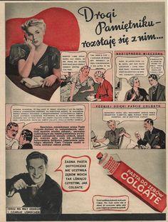 Komiksowa reklama Colgate z wątkiem miłosnym