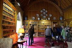 040-20120714_Tyntesfield-Somerset-Library-W end of room with doorways leading to Oak Room and entrance passage on R | Flickr: Intercambio de...