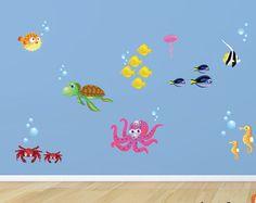 Underwater Wall Decals Fish Wall Sticker Underwater by evgieNev