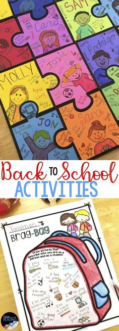These back to school activities are the perfect way to get to know your students on the first day or first week of school! This back to school activities pack includes tons of back to school ice breakers, back to school crafts, and a back to scho Back To School Night, Back To School Crafts, 1st Day Of School, School Age Crafts, School Birthday, Stem Challenge, First Day Of School Activities, Back To School Bulletin Boards, School Doors