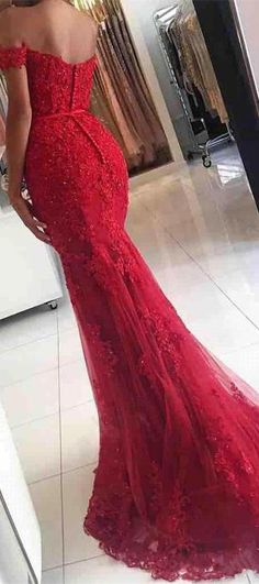 Red Prom Dresses,Off he Shoulder Prom Dresses,Sweet 16 Dresses,Sparkly Prom Dresses #promdresses #redpromdresses #promgowns #dresses #sparkly #pretty #longpromdresses #mermaidpromdresses #fashion #cheap #affordable #lacepromdresses #beading