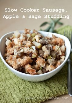Slow Cooker Sausage, Apple & Sage Stuffing