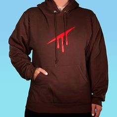 """<p> <span style=""""font-size: 16px;"""">Hero of Blood God Tier Hoodie, as worn by Karkat Vantas, the Knight of Blood.</span></p> <p> Printed on Jerzees 8 oz. NuBlend 50/50 hoodie in Chocolate.</p> <p> Not sure what size to get?<a href=""""http://www.whatpumpkin.com/images/D/Jerzees.gif"""" onclick=""""window.open(this.href, '', 'resi..."""