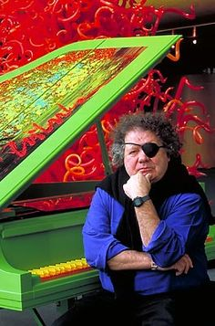 glass ART__ Dale Chihuly, Olympic Tower and Piano, Salt Lake 2002 Blown Glass Art, Glass Artwork, Dale Chihuly, Art Festival, Glass Design, Famous Artists, Les Oeuvres, Artist At Work, Sculpture