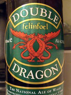 Double Dragon Welsh Ale, Garrett my husbands choice of  Ale
