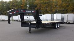 Gooseneck Deck Over Flatbed Equipment Trailer Flatbed Trailer, Car Trailer, Utility Trailer, Open Trailer, Gooseneck Trailers For Sale, Deck Over Trailer, Landscape Trailers, 5th Wheel Trailers, Equipment Trailers