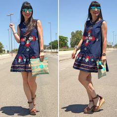 vestido bordado baby doll - Temporada: Primavera-Verano - Tags: dress, lifestyle, look, ootd, blogger, moda - Descripción: Look con un vestido bordado que es preciosos a un precio de escándalo #FashionOlé