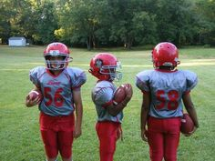 Youth football team outfitted with Goal Line Athletics custom uniforms. Youth Football Equipment, Football Team, Football Helmets, Team Apparel, Athletics, Goal, Football Equipment, Football Squads