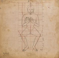 Tibetan pattern book of proportions, 18th century
