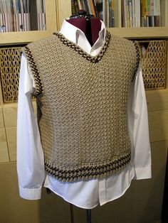 Men's Vest by Drew - The Crochet Dude, via Flickr