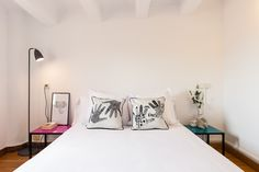 Guest room in modern apartment in Gracia, Barcelona. Advanced Home Staging | Markham Stagers, Barcelona