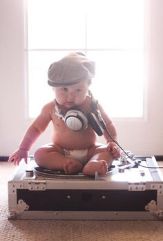 Baby DJ portrait - must do to support daddy's love for music producing and Dj