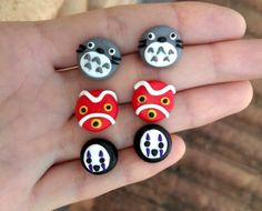 Hey, I found this really awesome Etsy listing at https://www.etsy.com/listing/228735141/studio-ghibli-earrings-mononokes-mask
