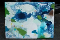 DIY canvas art. I like KFD Designs...glad she shares these things.