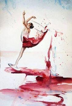 Bailarina y vino tinto