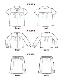 music class blouse + skirt sewing pattern | Shop | Oliver + S