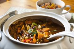 Vegetarian Recipe: Slow Cooker Bean and Barley Soup