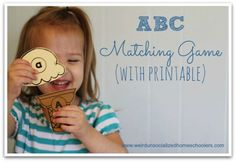 ABC Matching Game with printable