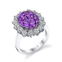 VannaK.com  18Kt white gold ring,Diamonds 1.71 TCW ,  Rare Zambian Tourmaline  6.34 carats  Tourmaline