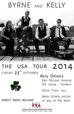 Byrne and Kelly Acoustic Irish USA Tour 2014 in New York at Rory Dolan's!!! :-)