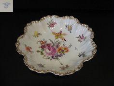 Patera ręcznie malowana - Dresno XIX w. Pie Dish, Porcelain, Pottery, China, Plates, Dishes, Ceramica, Licence Plates, Porcelain Ceramics