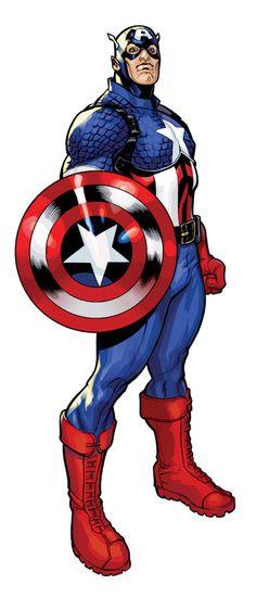 Captain America Color by TerryDodson.deviantart.com