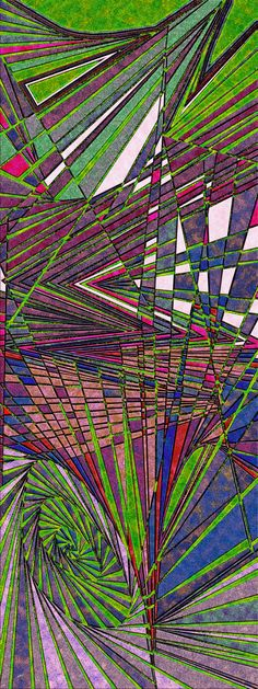 strategy of color - organic abstract, optical obsession, cast in Virtual Shattered Glass by Douglas Christian Larsen - http://www.imagekind.com/strategy-of-color_art?imid=60e79251-4c1f-4356-b47b-46fb61938f04