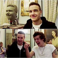 Cuando Harry se burlo de la escultura de Liam