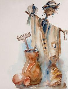 strach na wróble - ilustracja