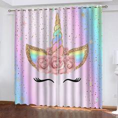 Unicorn Bedroom Decor, Unicorn Rooms, Unicorn Themed Room, Unicorn Decor, Girl Bedroom Designs, Room Ideas Bedroom, Girls Bedroom Decorating, Child's Room, Cortina Floral