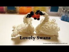 (MADE THIS) Lovely Swan Charm - How to Rainbow Loom Design - Animal Series - YouTube