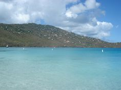 magens bay.  i'm floating just beyond those bouys.