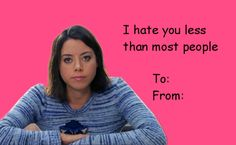 Smart Girls at the Party - Parks and Rec valentine's day card - day memes Valentines Day Cards Tumblr, Friend Valentine Card, Valentines Day Ecards, Valentines Gifts For Boyfriend, Valentines For Kids, Valentine Cards, Funny Valentines Cards For Friends, Funny Valentine Memes, Disney Valentines