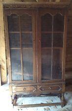 vintage dark oak display cabinets uk - Google Search