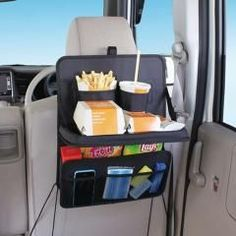 Car Back Seat Organizer w/Pullout Food & Drink Tray - NOW WITH FREE SHIPPING!