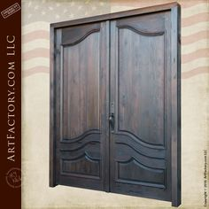 Living Room Solid Walnut Double Front Doors With 12 Sidelites And