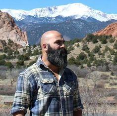 20 Best Acceptable Shaved Head With Beard Styles-Bald Bearded Man Badass Beard, Epic Beard, Sexy Beard, Great Beards, Awesome Beards, Moustaches, Bart Styles, Bald With Beard, Bald Men With Beards
