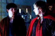 When Merlin was first made Arthur's servant